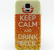 Для Кейс для  Samsung Galaxy С узором Кейс для Задняя крышка Кейс для Слова / выражения TPU SamsungS6 / S5 Mini / S5 / S4 Mini / S4 / S3