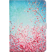 LEXY® Sky Red Floral Pattern PU Leather Flip Stand Case with Screen Protector and Stylus for iPad Air/iPad 5