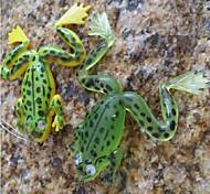 10 pc Esche morbide Esca Rana Esche morbide Colori assortiti g/Oncia mm pollice,Silicone Pesca persico