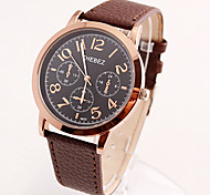 Business High-end Watch of Wrist of Waterproof Leather Belt Black Plate Wrist Watch Cool Watch Unique Watch