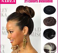 Fake Hair Extension Bride Bun Hairpiece Scrunchie Wavy Hair Pony Tail 21Colors
