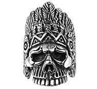 Ring Jewelry Steel Skull / Skeleton Black Jewelry Party Halloween Daily Casual 1pc