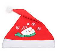 Flannelette Embroidered Christmas Hat(Snowman)