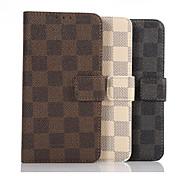 plaid carré design en cuir étui de protection pour Samsung Galaxy Note 5