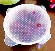 1pcs silicium transparent couvercles multifonctions pour la conservation des aliments