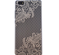 Diagonal Flowers Pattern Transparent Frosted PC Material Cell Phone Case for Huawei P8 Lite
