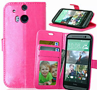 High Quality PU leather Wallet Mobile Phone Holster Case For HTC M8/M9(Assorted Color)