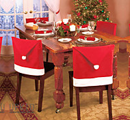 6PCS Non-woven Christmas Hat Chair Covers 60x50CM