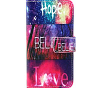 Hope love  Design PU leather phone Case For LG Leon  H340N