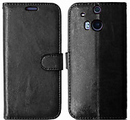 PU Leather + TPU Back Cover Wallet Case Flip Cover Photo Frame Case for HTC One M8/One M9