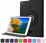 color sólido rotación de 360 grados soporte elegante de la PU de la cubierta del caso de cuero para ipad pro 12.9 pulgadas (colores