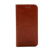 Fashion PU Flip Leather Case with Card Function for iPhone 4/4S(Assored Colors)