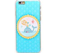 Zucker Wal-Muster transparent pc Schutzhülle für iPhone 6 Plus