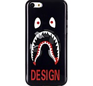 White Eye TPU Material Cell Phone Case for iPhone 5C