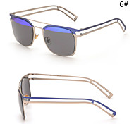 Sunglasses Women's Modern / Fashion Rectangle Silver / Gold Sunglasses Half-Rim