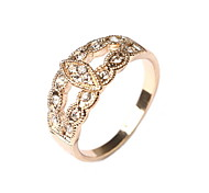 Exquisite Fashion Rings Hollow Leaf Christmas Gift