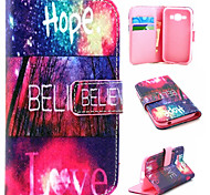 Colorful Pattern PU Material Flip Phone Case for Samsung GALAXY G360/J1/G5308/9082