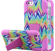 Silicone Gel Rubber Case With PC Stand cover Skin for iPhone6(Assorted Colors)
