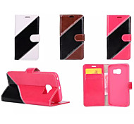 Twill Luxury Flip Cover Pouch Hybrid Leather Wallet Case For Samsung Galaxy S6/S6 Edge