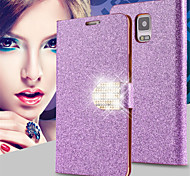 Shiny Diamond Full PU Leather Case Cover With Safe Buckle Cell Phone Bling Case For Samsung Galaxy Note 3/Note 4/Note 5