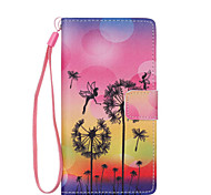 Dandelion  Pattern PU Leather Phone Case For Huawei  P8 Lite