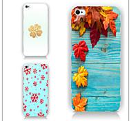 le cas feuilles modèle PC Phone cas de couverture arrière pour iPhone5 / 5s