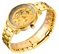 Men's Watch Gold Imitation Of The Flywheel Waterproof Business Foreign Trade Watches Cool Watch Unique Watch