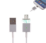 Cwxuan™  Micro USB Metal Magnetic Adhesion Charging Cable  for Samsung/HTC and Other Smart Phones (120cm)