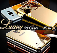 For Samsung Galaxy Case Plating / Mirror Case Back Cover Case Solid Color PC Samsung A8 / A7 / A5