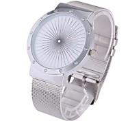 quadrante moda orologio al quarzo cinturino in acciaio da uomo