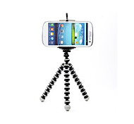 Black & White Octopus Style Portable and adjustable Tripod Stand with Cell Phone Holder