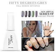 Azure Beauty 50°Grey Series Nail Gel Polish 12ml 5Pcs Classic Color UV Gel Soak Off Long Lasting Acrylic Manicure
