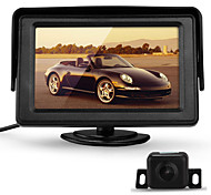 "4.3"" TFT Car LCD Rearview Monitor + 170°Reverse Backup Parking Camera Kit"