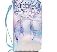 motif de campanules cuir PU carte flip cas de téléphone pour iPhone 4 / 4S