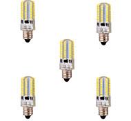 8W E11 Lâmpadas Espiga T 80 SMD 3014 720 lm Branco Quente / Branco Frio Regulável / Decorativa AC 220-240 / AC 110-130 V 5 pçs
