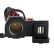 accendisigari impermeabile moto 2 usb + interruttore luce 12-24v por teléfono inteligente