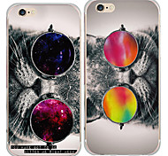 maycari®cool Katzen transparente TPU Tasche für iPhone 6plus / iphone 6s plus (verschiedene Farben)