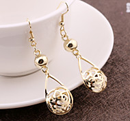 European and American fashion personality chic earrings earrings round baskets