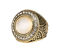 Couples Opal Ring Simple Classic Ring for Men