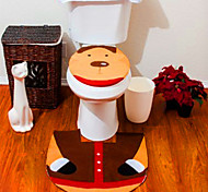 2015 Hot 1Lot Fancy Santa Toilet Seat Cover and Rug Bathroom Set Contour Rug Christmas Decorations