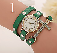Woman's Watches The Cross Diamond Ladies Watch Women Leather Watch Retro Ladies Bracelet Watch Round