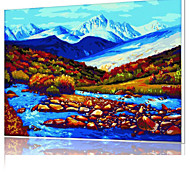 DIY Digital Oil Painting  Frame Family Fun Painting All By Myself  River  X5039