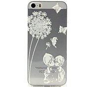 Dandelion love Pattern TPU Relief Back Cover Case for iPhone 5/iPhone 5S