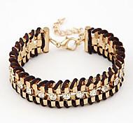 Diamond Weave Alloy Bracelet Chain & Link Bracelets Daily / Casual 1pc