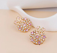 European Style Fashion Exquisite Rhinestone Butterfly Earrings