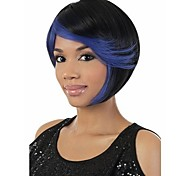 Fashion And Facyory Price Blue&  Natural Color Syntheic Wig