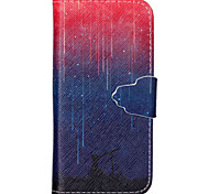 Meteor Pattern PU Leather Phone Case For iPhone 5C
