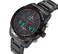NAVIFORCE® Men's Luminous Alarm Stopwatch Dual Movement  Sports Watches Wrist Watch Cool Watch Unique Watch