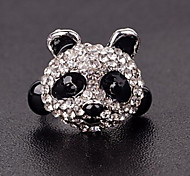Women Special Cute Panda Style Black and White Band Rings