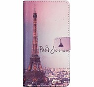 Iron Tower Painted PU Phone Case for Sony Xperia Z5